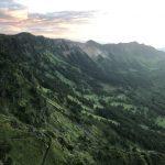 トーミの頭から見る黒斑山、蛇骨岳