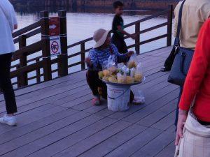 フルーツを売っているおばちゃん